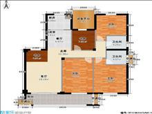 招商城 尚湖中央花园 3室精装修 拎包即住 小区设施齐全 月租3050