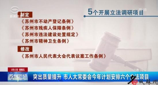 突出房屋出租安全 苏州市今年计划安排六个立法项目