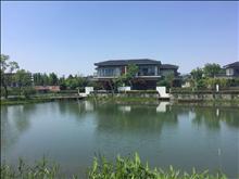 水月周庄双拼东边套,一线临湖,三面花园200,亲水码头随时看房