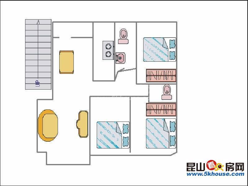 爱河小区 435万 4室2厅2卫 精装修 急售好房不等人,抓紧时间下手