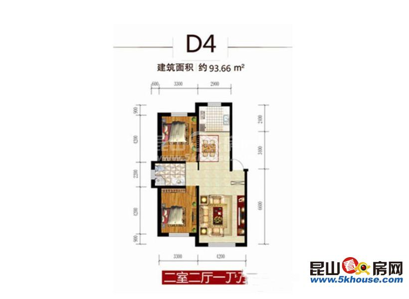 住家不二选择,四季华城 165万 2室2厅1卫 精装修