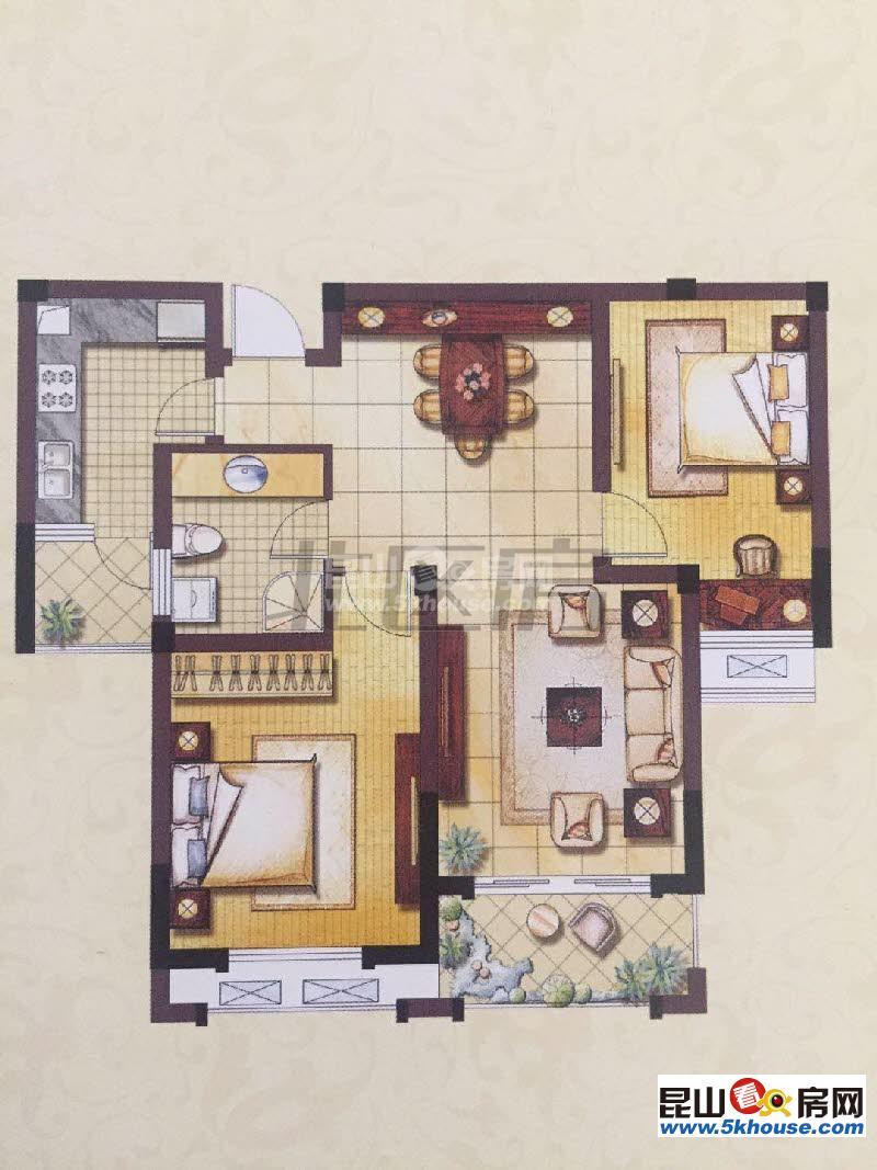 东方罗马 150万 2室2厅1卫 精装修 好房不要错过
