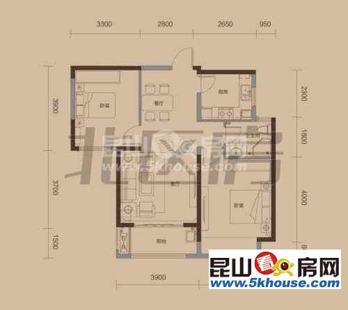 梅园新村,两房精装修,中间楼层
