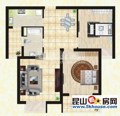 永泰花苑 170万 2室2厅1卫 精装修 ,住家精装修 有钥匙带您看