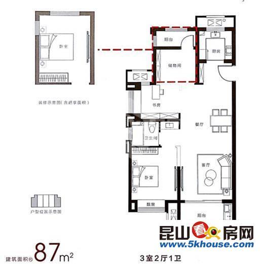富力湾 670万 5室3厅3卫 简单装修 ,此房只应天上有人间难得见一回