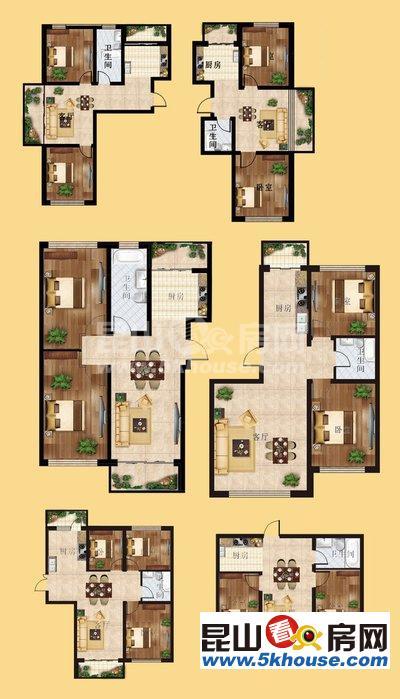 富力湾 450万 5室3厅4卫 毛坯 ,不买真亏急,送下沉式庭院