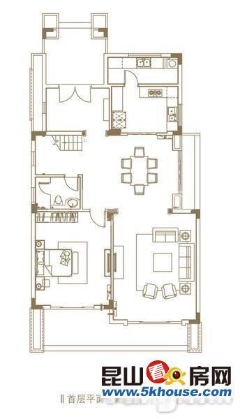 出售340万,富力湾双拼别墅,185平米北花园,原始四房,看房预约