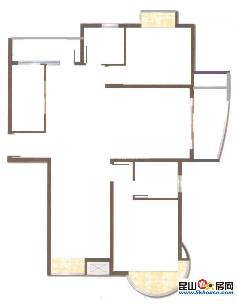 昆山花桥地铁11号线s1号线边上单价10150起抄底价格 125万 3室2厅2卫 毛坯 现房