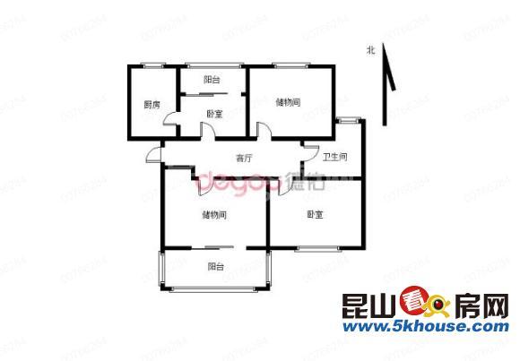 国际华城 150万 2室厅卫 简单装修 格局极好,看房随时