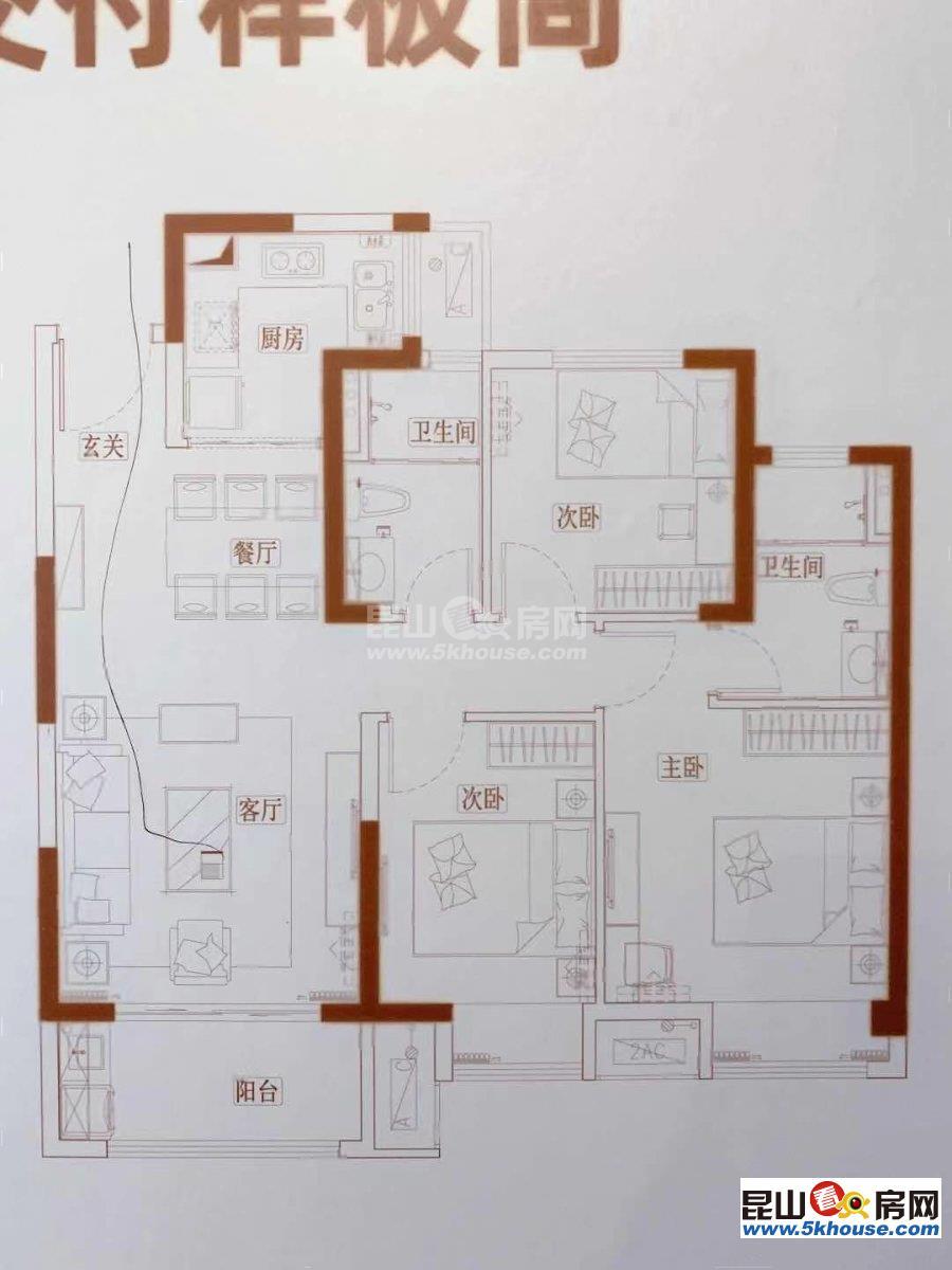 海伦堡 品牌小区 一手新房 单价14000起 无社保可买