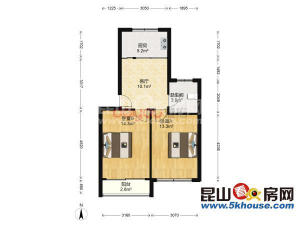 好位置好房子新浦花园  2室2厅1卫 精装修