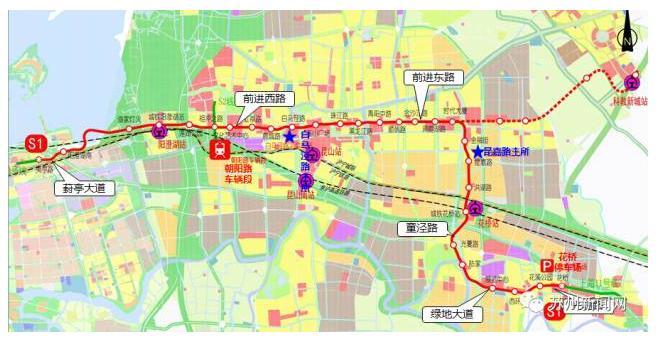 2018年6月地铁S1线开工 昆山这3个区域要飞了图片