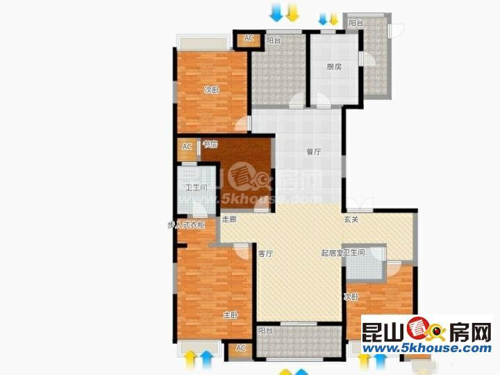 中大未来城 540万 4室2厅2卫 精装修 你可以拥有,理想的家