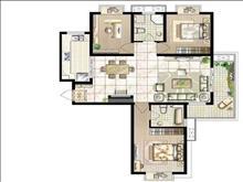 高品质小区汉城国际,南北通透大三房,景观楼层采光好,目前小区最具性价比房源,学位未用