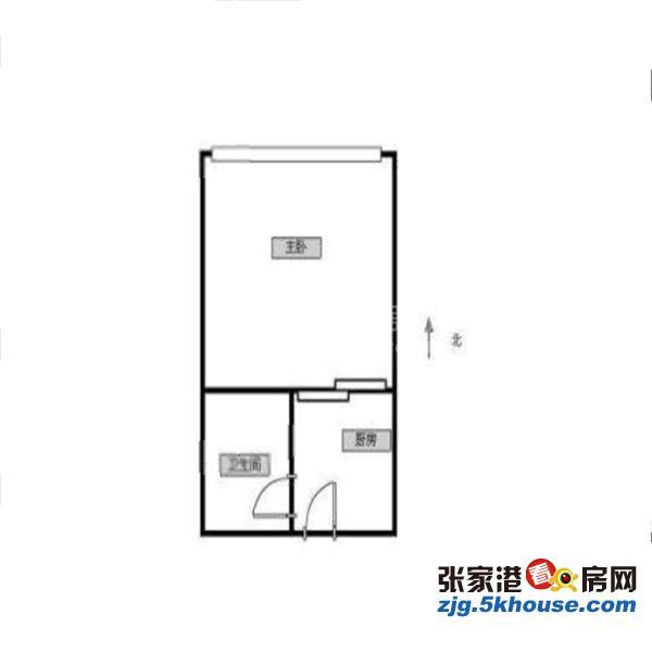 万达广场公寓朝南38平 带大落地窗 精装修 2万8年包物业