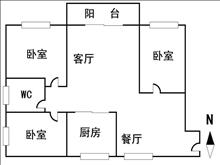 重点推荐,房主急售滨江花园 2楼,102平方,67万 3室1厅1卫 精装修