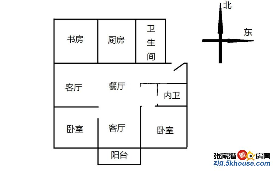 中心区,实验北加二中胜利新村 175万 3室2厅2卫 中装