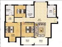 樓層好,性價比高 吾悅華府 195萬  128平方 14樓 3室2廳2衛 毛坯